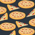 Pizza background pattern
