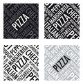 Pizza background a square in black and white Royalty Free Stock Images