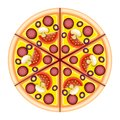 Pizza on the board