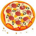 Pizza cartoon Royalty Free Stock Images