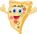 Pizza cartoon character illustration of Royalty Free Stock Photos
