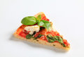 Pizza with cheese, bacon and spinach Royalty Free Stock Photo