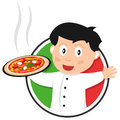Pizza Chef Logo Royalty Free Stock Photography