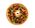 Pizza Chili Con Carne Stock Image