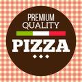 Pizza Circle Brown Logo Premium Quality Vector