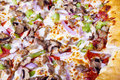 Pizza closeup. Stock Images