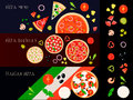 Pizza Constructor Banners Set