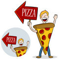 Pizza Costume Promotion Stock Image