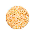 Pizza crust round on white Royalty Free Stock Images