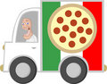 Pizza Delivery Guy Royalty Free Stock Photography