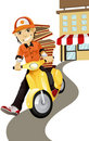 Pizza delivery man Royalty Free Stock Image