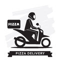Pizza Delivery Service, Vector icon. Royalty Free Stock Photo