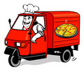Pizza delivery van Stock Photos