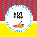 Pizza design over dotted background vector illustration Stock Photography