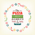 Pizza design template for menu banner advertising etc eps Royalty Free Stock Images
