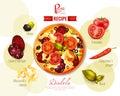 Pizza Diabola Recipe Illustration