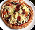Pizza domowej roboty Obraz Royalty Free