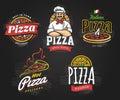 Pizza Emblems Set
