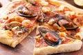 Pizza Frutti Di Mare Stock Photo