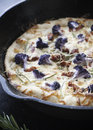 Pizza gourmet with purple cauliflower and fresh rosemary Stock Photo
