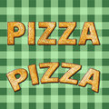 Pizza green Royalty Free Stock Photos