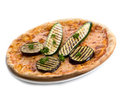 Pizza with grilled zucchinis Stock Photo