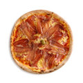 Pizza with ham and cheese Royalty Free Stock Photo