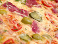Pizza ham and vegetable Royalty Free Stock Image