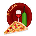 Pizza Icon Royalty Free Stock Photo