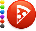 Pizza icon on round internet button Royalty Free Stock Photos