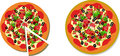 Pizza illustration isolated on white Royalty Free Stock Image