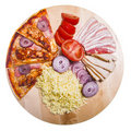 Pizza with ingredient Royalty Free Stock Image