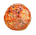 Pizza.isolated Stock Images