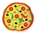 Pizza italian food a large colorful Royalty Free Stock Photos