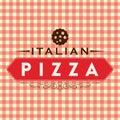 Pizza Italian Red Tag Logo Vector