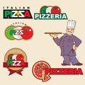 Pizza label Stock Photo