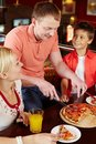 Pizza lovers Stock Photography