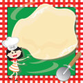 Pizza Making Birthday Party Invitation Card Stock Images