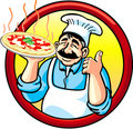 Pizza Man Royalty Free Stock Images