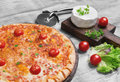Pizza Margarita with cheese Royalty Free Stock Photo