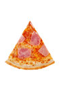 Pizza with margarita, cheese, ham for the menu Royalty Free Stock Photo