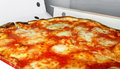 Pizza margherita delicious freshly baked ready for take away Stock Photo