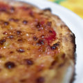 Pizza margherita extreme close up of a Stock Photography