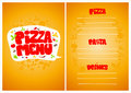 Pizza menu. Royalty Free Stock Photo