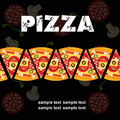 Pizza Menu Template, vector illustration Royalty Free Stock Photos