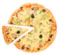Pizza and piece Royalty Free Stock Photo