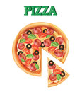 Pizza. A piece of Italian pizza. . Pizza icon