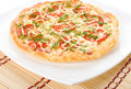 Pizza on plate Royalty Free Stock Images