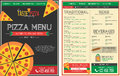 Pizza Restaurant menu Template - Front and Back