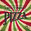 Pizza retro poster illustration Royalty Free Stock Photos